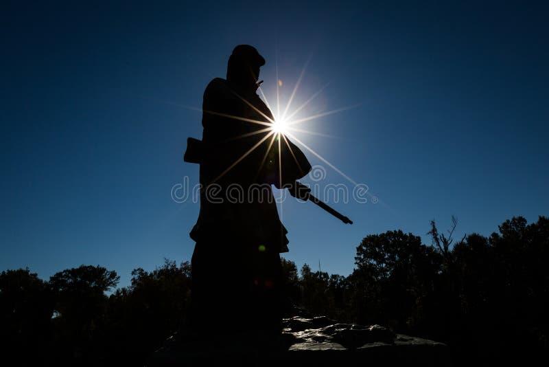 军事国家公园vicksburg 图库摄影