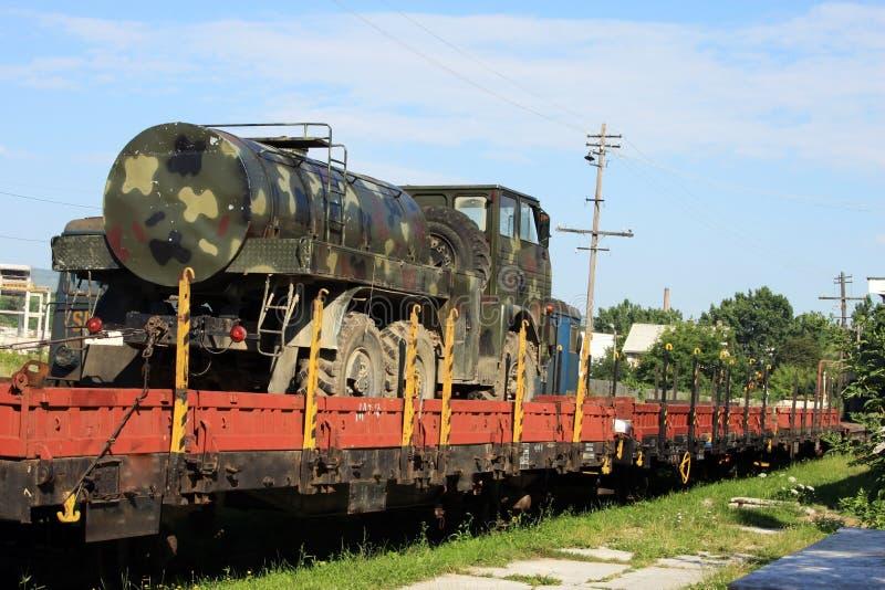 军事坦克水 免版税库存图片