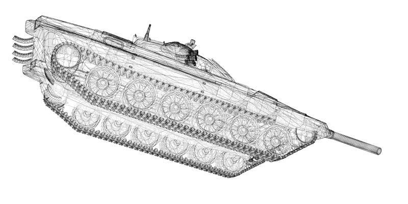 军事坦克 皇族释放例证