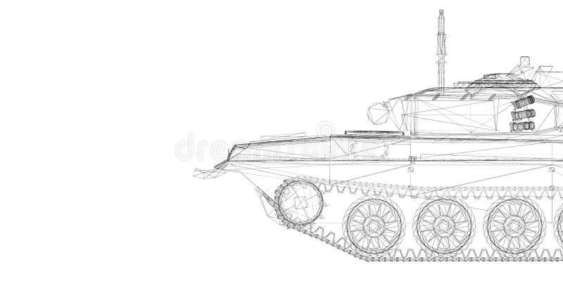 军事坦克 库存例证