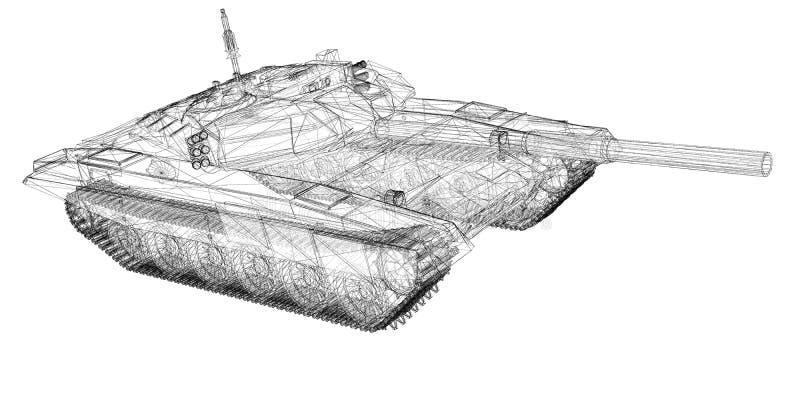 军事坦克 向量例证