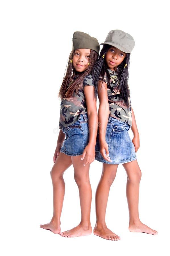 军事女孩 免版税库存照片