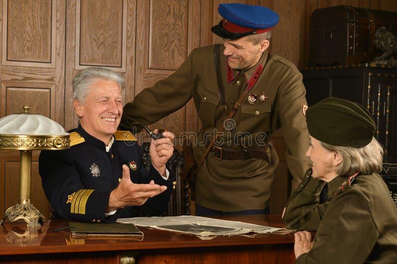 军事成熟将军 库存图片