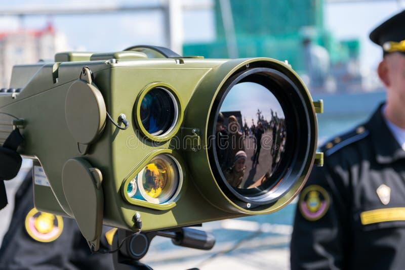 军事技术的陈列 免版税库存图片