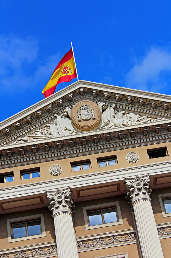 军事政府大厦,巴塞罗那,西班牙 库存照片