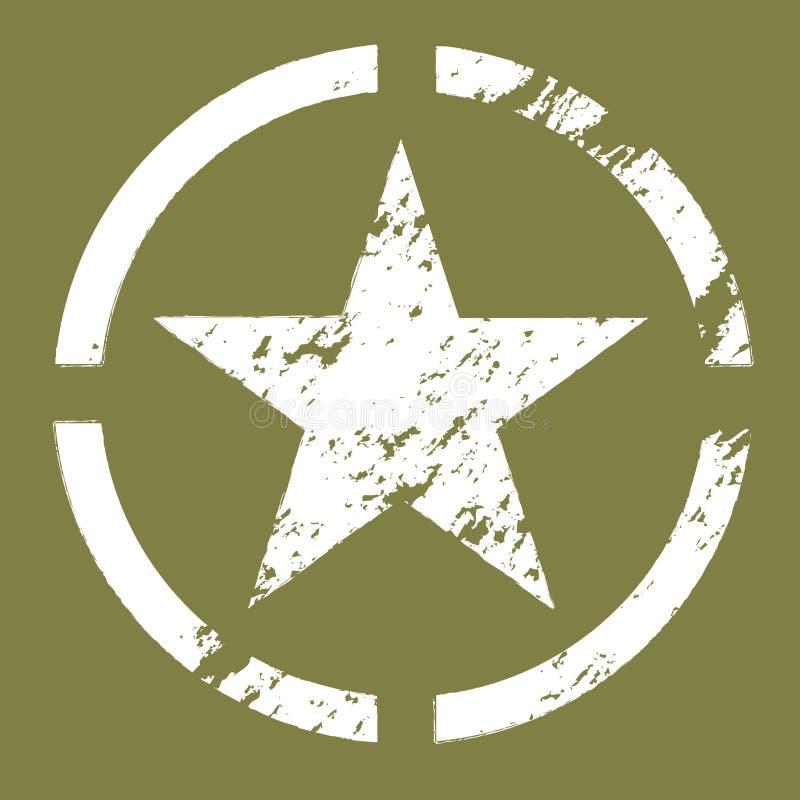 军事星形符号 库存例证