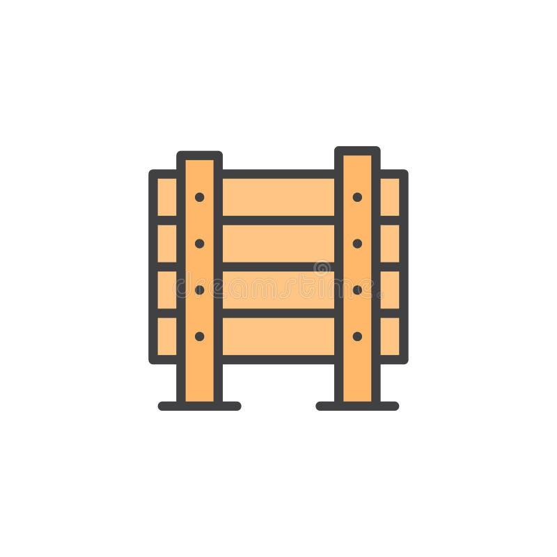 军事木障碍被填装的概述象 库存例证