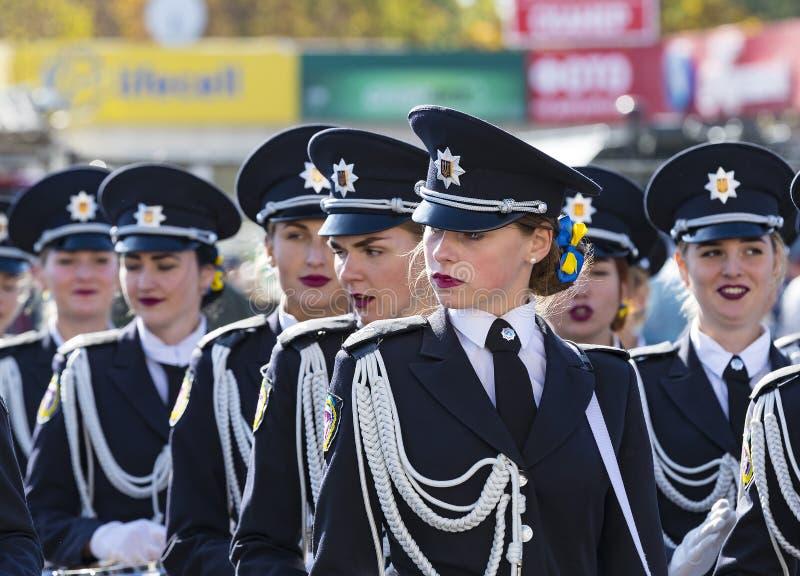 军事游行以纪念天乌克兰的防御者 库存照片