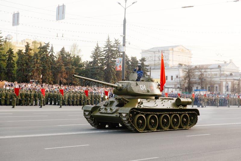 军事游行在车里雅宾斯克 免版税库存图片