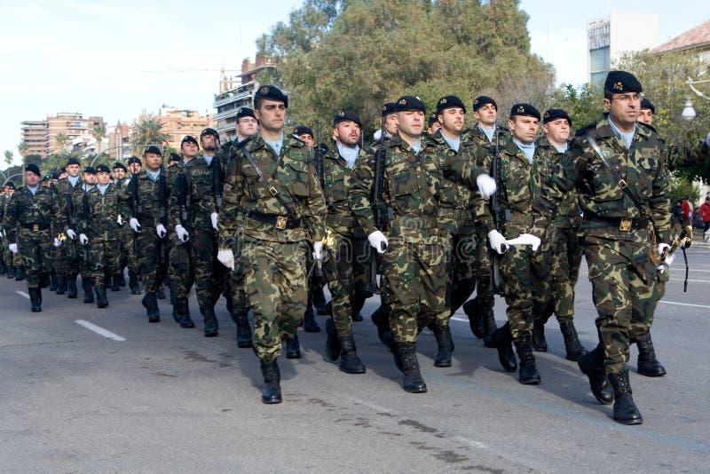 军事游行 免版税图库摄影