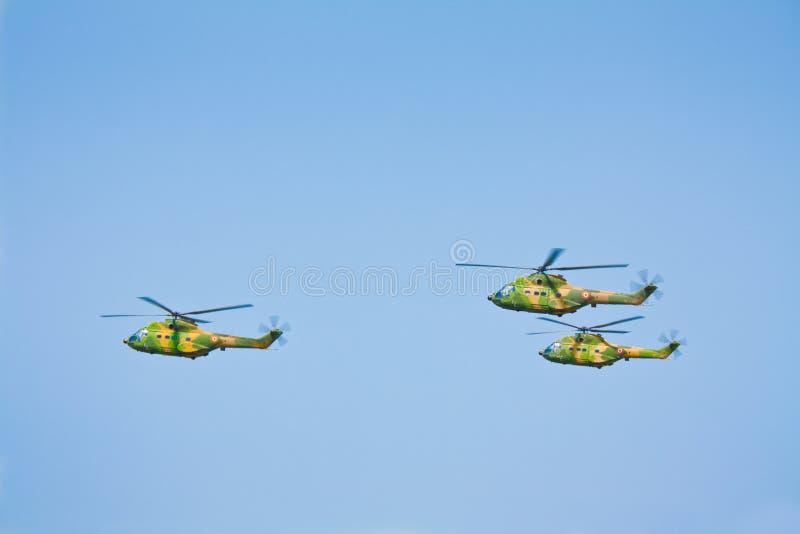 军事直升机组 图库摄影
