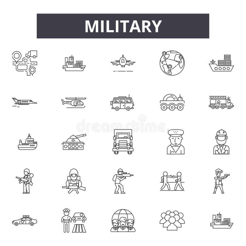 军事线象,标志,传染媒介集合,概述例证概念 库存例证