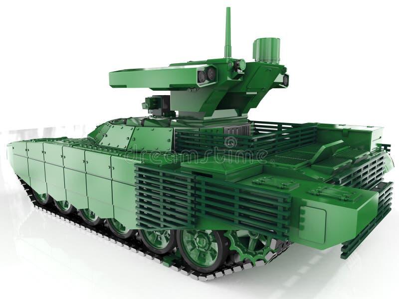 军事自治防空自走系统 3d回报 向量例证