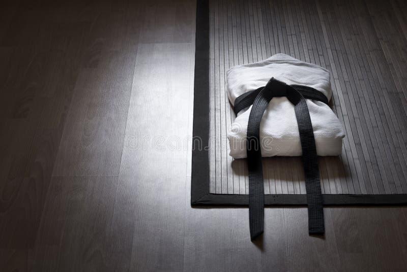 军事艺术竹地毯的礼服 免版税库存照片
