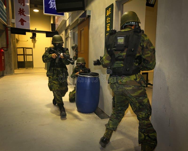 军事训练 免版税库存照片