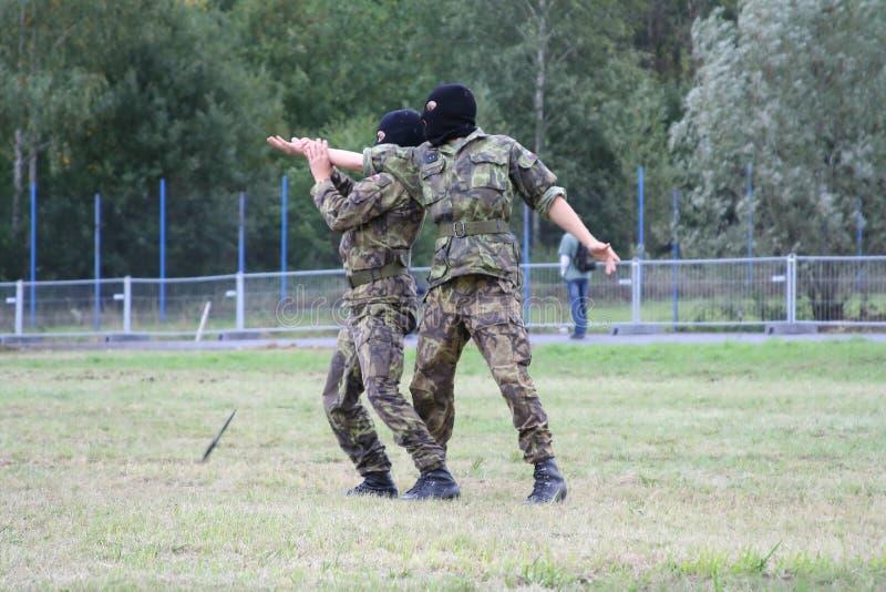 军事训练 库存照片