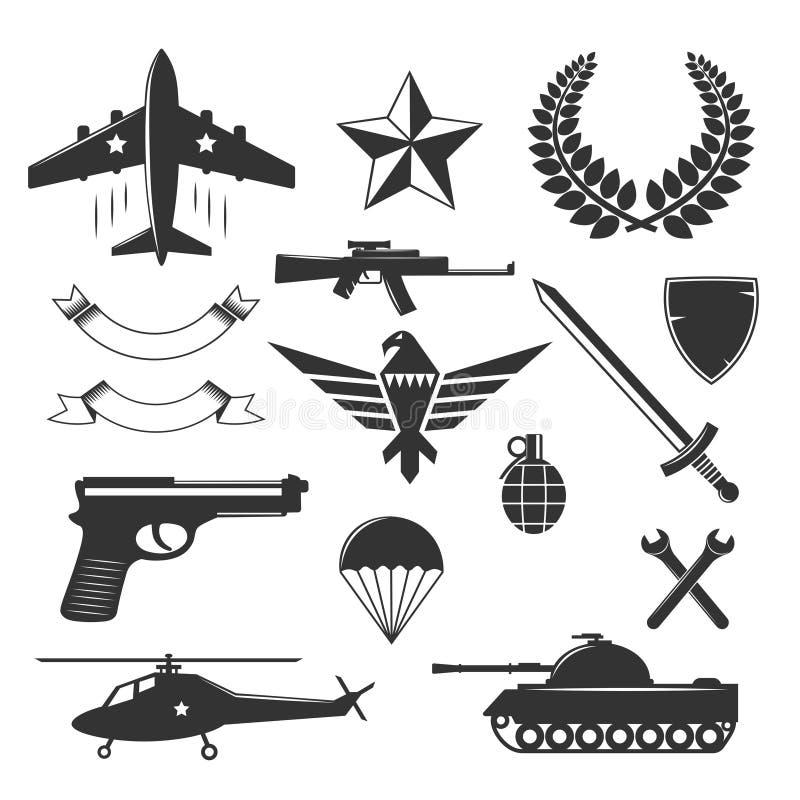 军事象征元素收藏 皇族释放例证