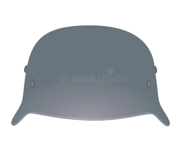 军事金属盔甲 向量例证