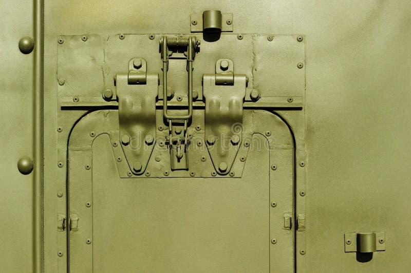 军事钢车体 库存照片
