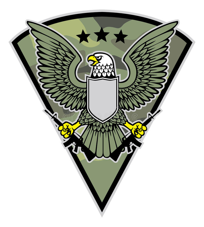 军事鸟吉祥人劫掠每对步枪 皇族释放例证