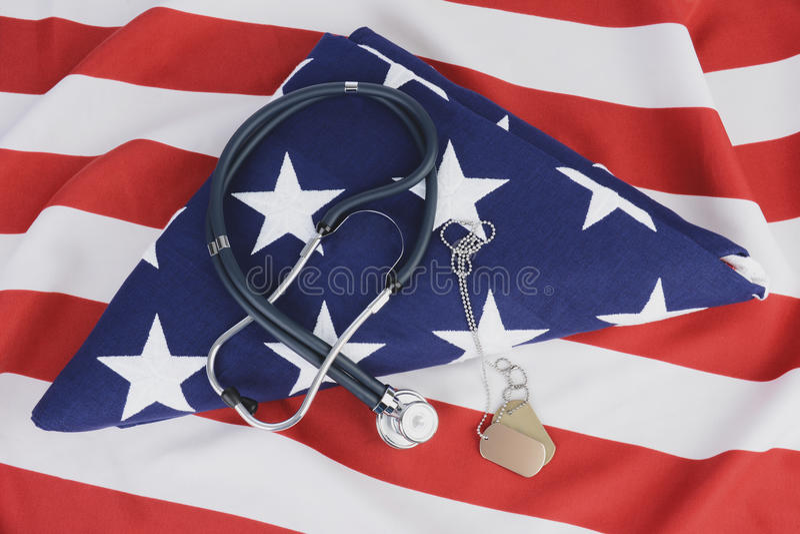 军事医疗保健概念 免版税库存图片