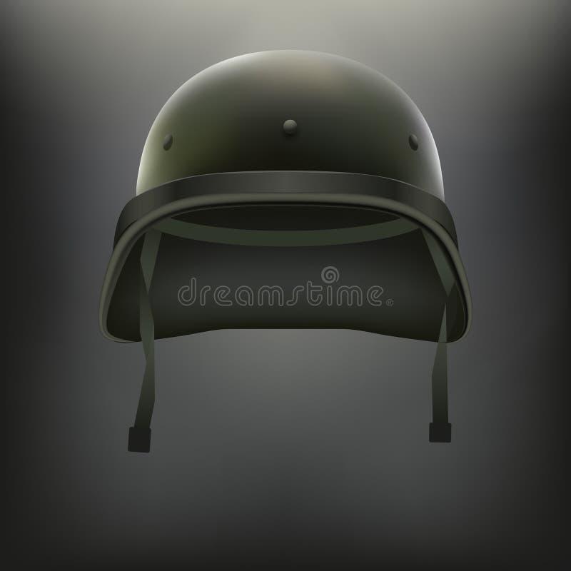 军事绿色盔甲传染媒介背景  皇族释放例证