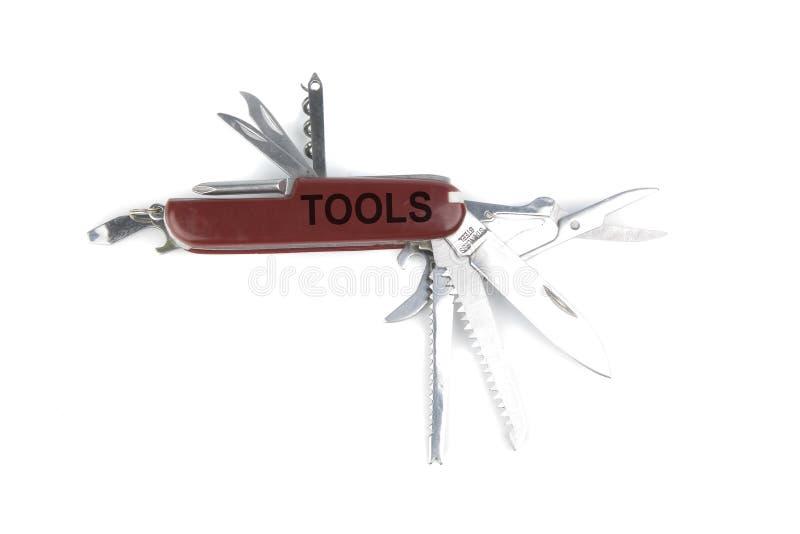 军刀营销矿穴红色瑞士工具 库存图片