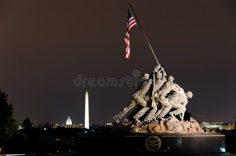 军团dc海洋纪念品我们美国华盛顿 免版税库存图片