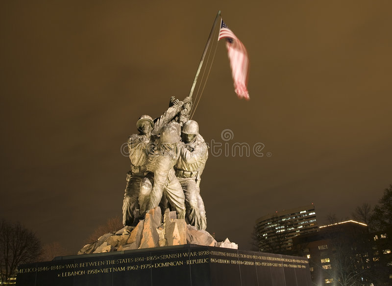 军团dc海洋纪念战争华盛顿 免版税库存照片