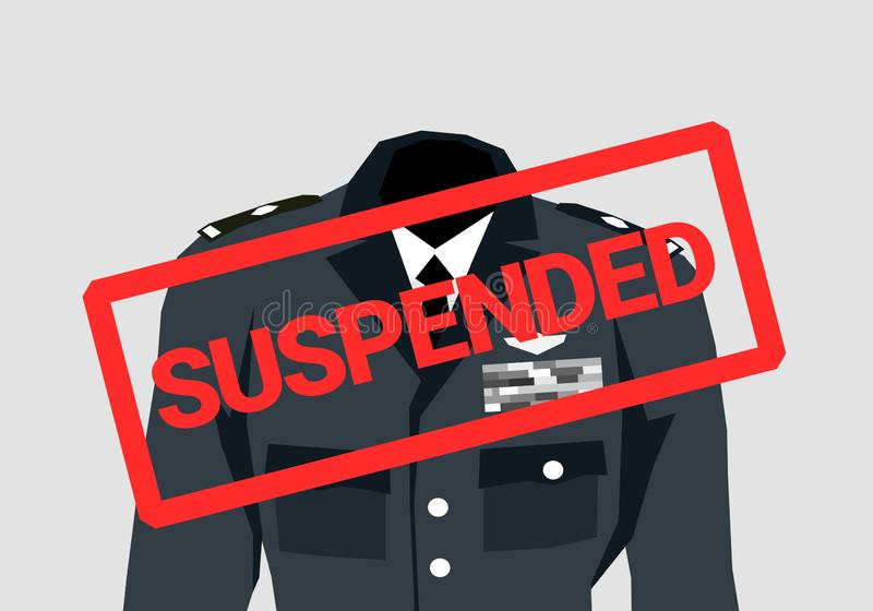 军官、战斗员和战士暂停 皇族释放例证
