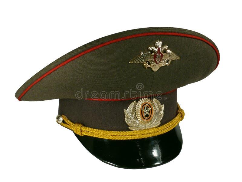 军官盖帽 库存图片
