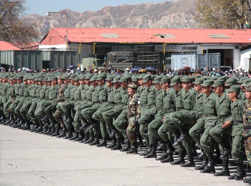 军校前进的毕业生 免版税库存图片