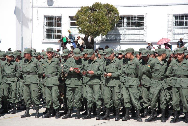 军校的毕业生有新的ID的 免版税库存照片