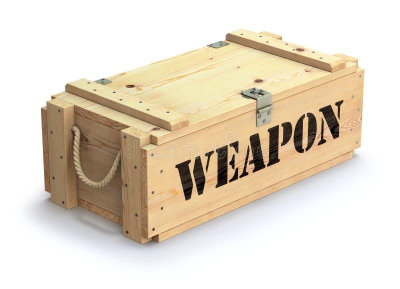 军用木板箱 向量例证