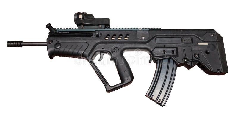 军用枪机器 免版税库存照片