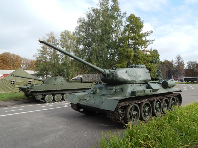 军用汽车,设备,减速火箭的项目 免版税库存图片