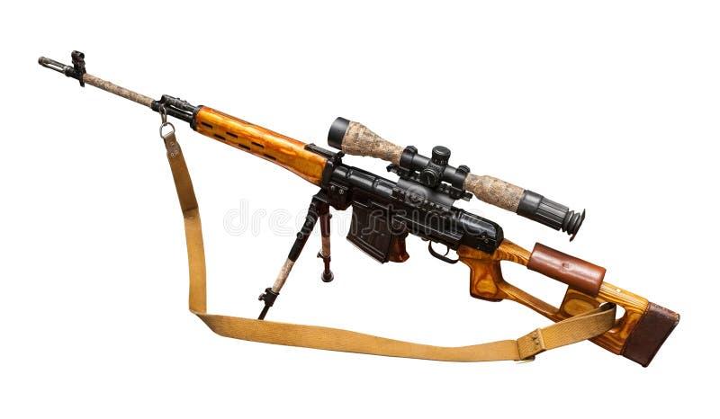 军用狙击步枪 免版税库存照片