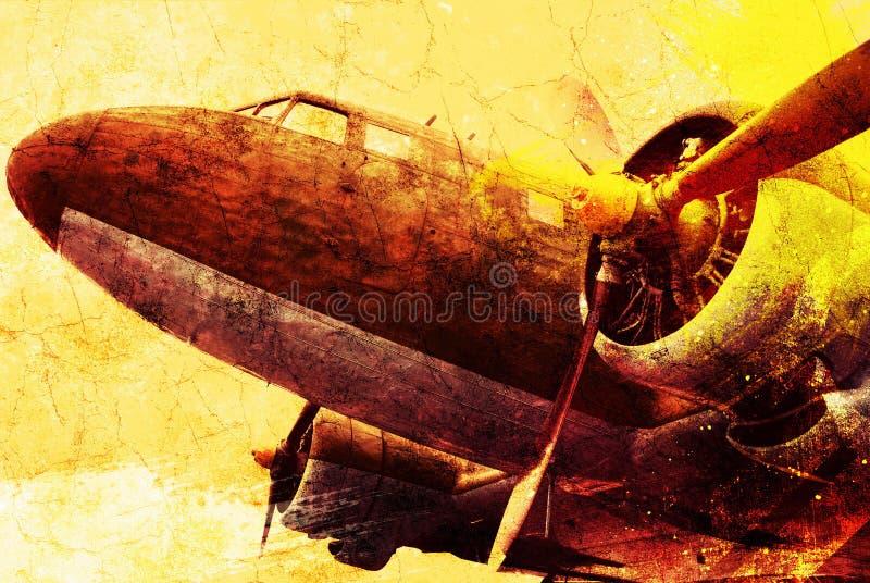 军用老飞机 免版税库存图片