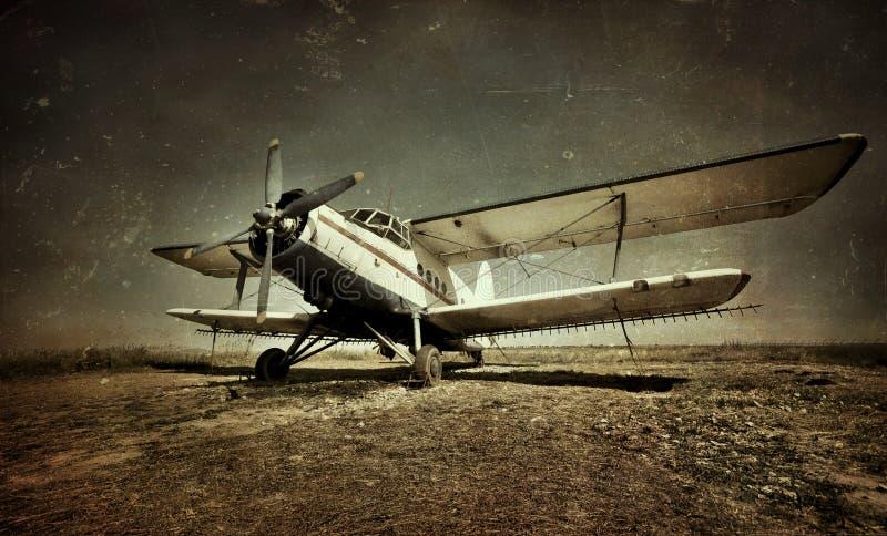 军用老飞机 免版税图库摄影