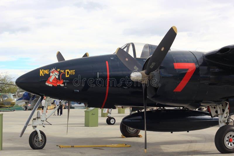军用老飞机 库存图片
