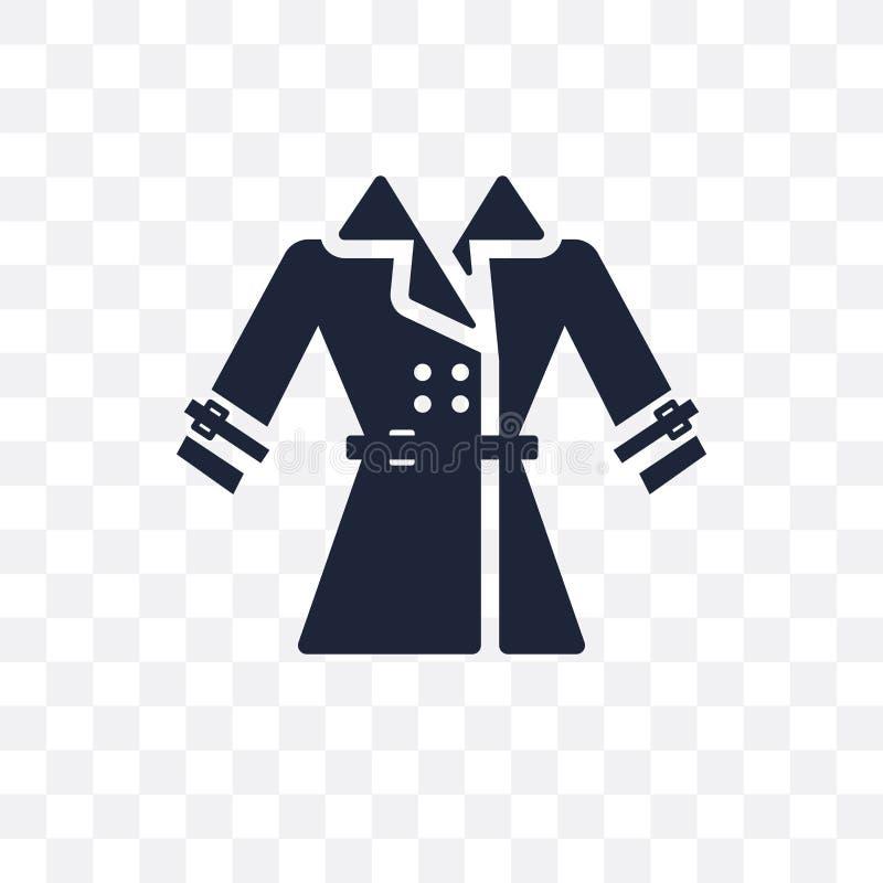 军用防水短大衣透明象 军用防水短大衣从克洛的标志设计 向量例证