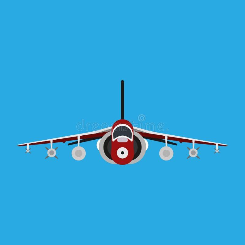军用飞机导航象正面图 航空空气喷气式歼击机 战争飞机推进了 拦截机速度比赛海军车 向量例证