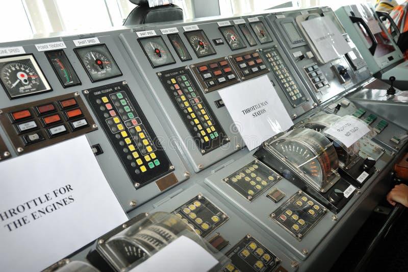 军舰控制桥梁 免版税库存照片