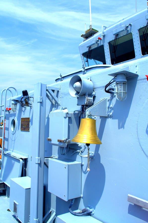 军舰甲板 库存图片
