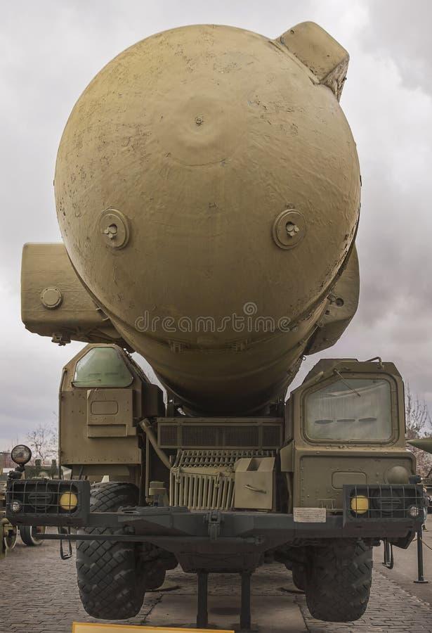 军车核火箭发射器 免版税库存照片