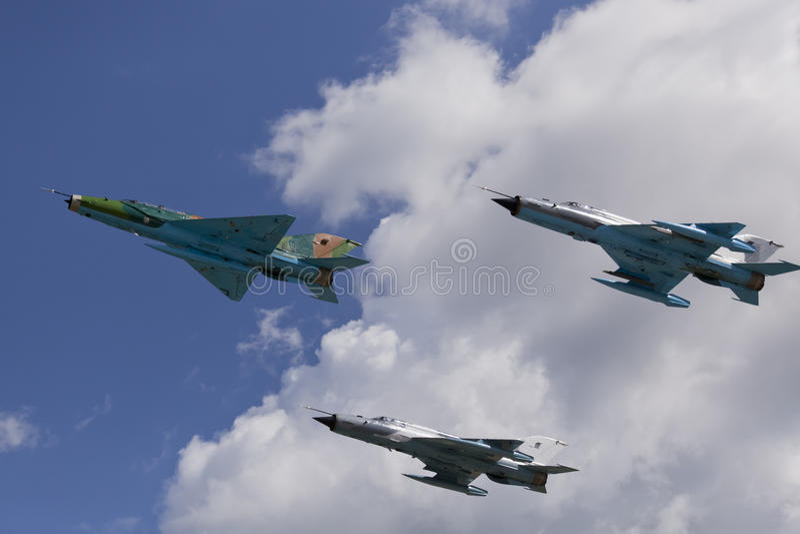 军队喷气式歼击机 免版税库存图片