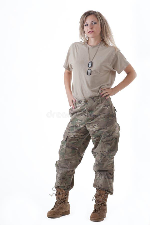 军队女孩11 库存照片