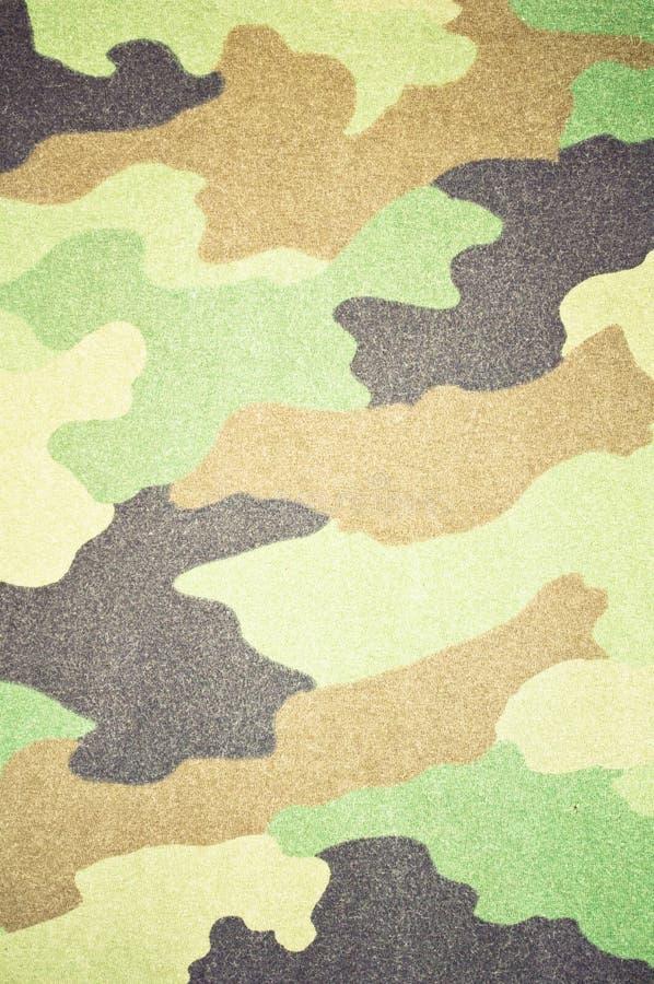 军队森林地-军事伪装织品 免版税图库摄影