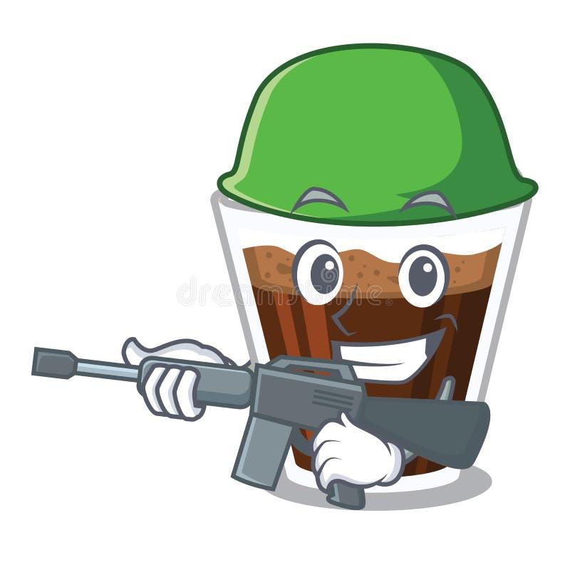 军队爱尔兰coffe隔绝与动画片 库存例证