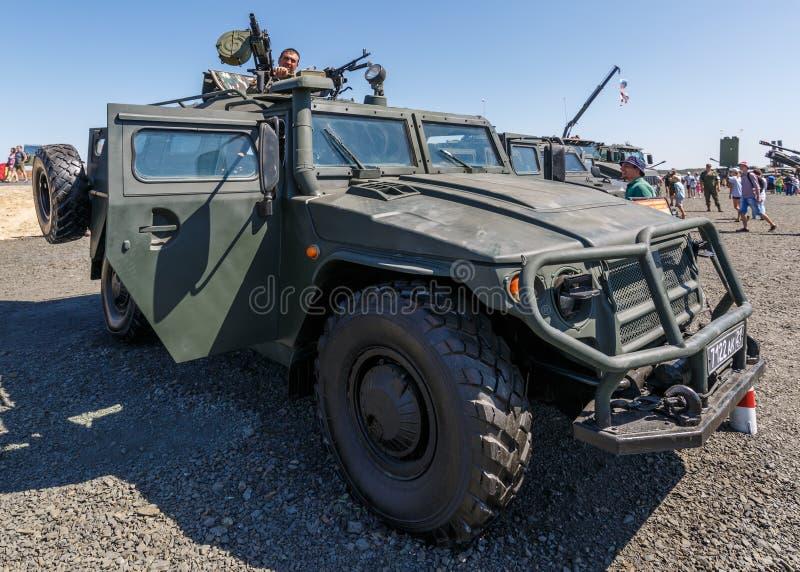 军队特别装甲车GAZ-233014老虎 免版税库存照片